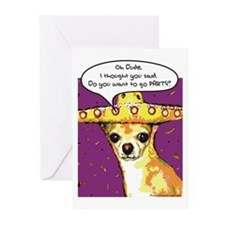 Party Chihuahua Greeting Cards (Pk of 10)