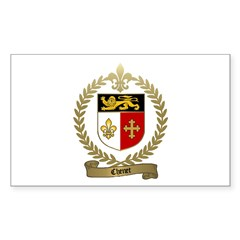 CHENET Family Crest Rectangle Decal