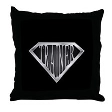SuperTrainer(metal) Throw Pillow