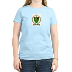 CHEVALIER Family Crest Women's Pink T-Shirt