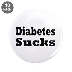 """Diabetes 3.5"""" Button (10 pack)"""