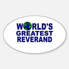World's Greatest Reverand Oval Decal