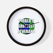 World's Greatest Reverand Wall Clock