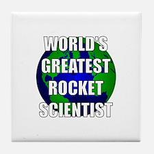 World's Greatest Rocket Scien Tile Coaster