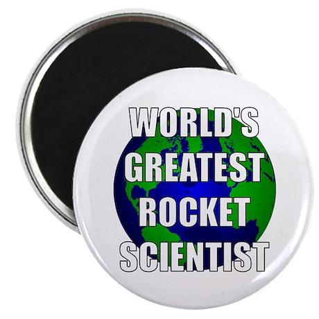 "World's Greatest Rocket Scien 2.25"" Magnet (100 pa"