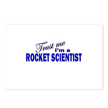 Trust Me I'm a Rocket Scienti Postcards (Package o