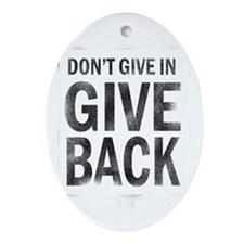 Give Back Oval Ornament