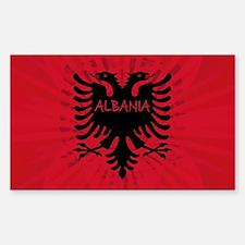 Albanian Flag 2 Rectangle Sticker 10 pk)