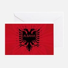 Albanian Flag 2 Greeting Card