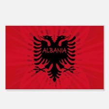 Albanian Flag 2 Postcards (Package of 8)