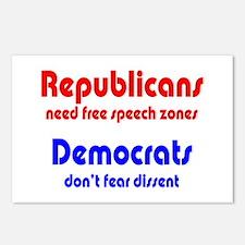 Republicans vs. Democrats Postcards (Package of 8)