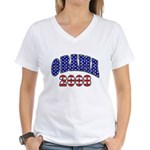 Obama 2008 Women's V-Neck T-Shirt