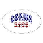 Obama 2008 Oval Sticker