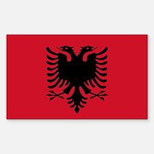 Albanian Flag Rectangle Sticker 10 pk)