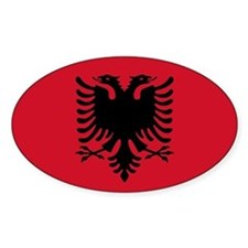 Albanian Flag Oval Decal