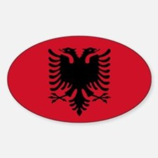 Albanian Flag Oval Decal