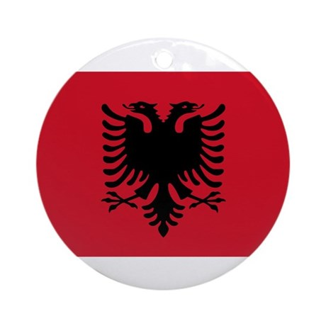 Albanian Flag Ornament (Round)