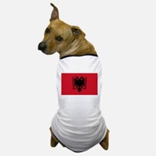 Albanian Flag Dog T-Shirt