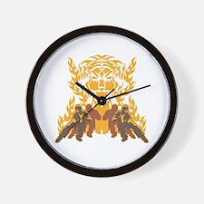 Tiger Kung Fu Wall Clock