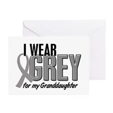 I Wear Grey For My Granddaughter 10 Greeting Cards