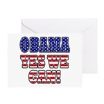 Obama Yes We Can Greeting Card