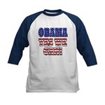 Obama Yes We Can Kids Baseball Jersey