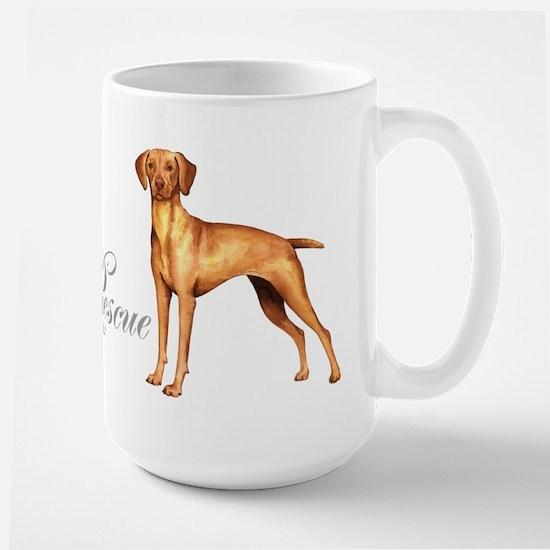 Vizsla Rescue Large Mug