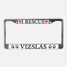 Vizsla Rescue License Plate Frame