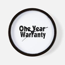 One Year Warranty Wall Clock