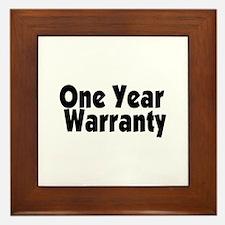 One Year Warranty Framed Tile