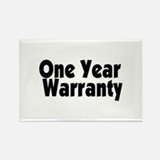 One Year Warranty Rectangle Magnet