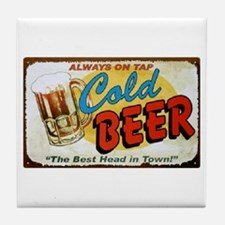 Cold Beer ! Tile Coaster