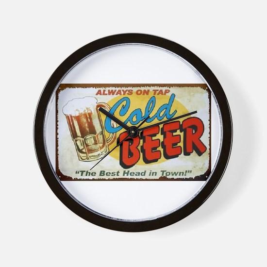 Cold Beer ! Wall Clock