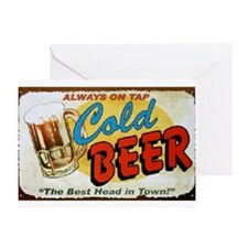 Cold Beer ! Greeting Card