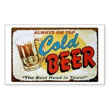 Cold Beer ! Rectangle Decal