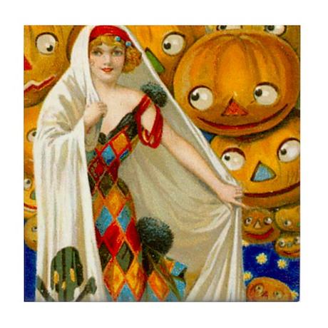 Halloween White Witch Tile Coaster