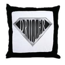 SuperDriller(metal) Throw Pillow