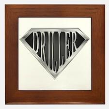 SuperDriller(metal) Framed Tile