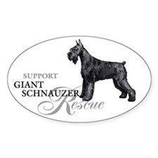 Giant Schnauzer Rescue Oval Decal