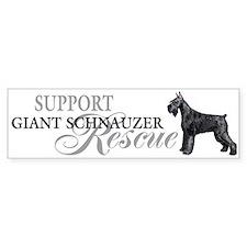 Giant Schnauzer Rescue Bumper Bumper Sticker