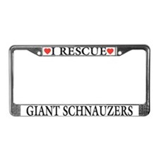 Giant Schnauzer Rescue License Plate Frame