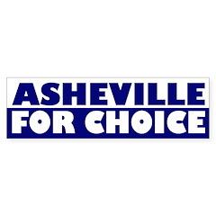 Asheville for Choice (bumper sticker)