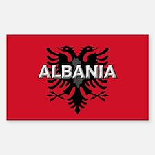 Albanian Flag Extra Rectangle Sticker 10 pk)