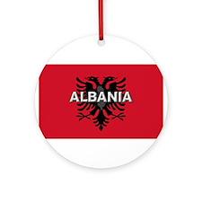 Albanian Flag Extra Ornament (Round)