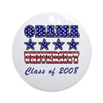 Obama University Class of 2008 Ornament (Round)