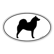 Finnish Spitz Oval Sticker (50 pk)