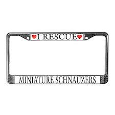 Miniature Schnauzer Rescue License Plate Frame