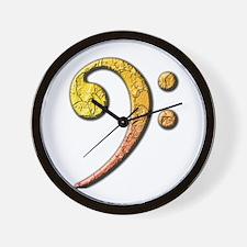 bass clef 3 Wall Clock