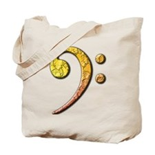 bass clef 3 Tote Bag