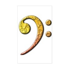 bass clef 3 Rectangle Decal